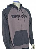 Rip Curl Dawn Patrol Blocked Zip Fleece Hoody - Charcoal Grey