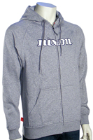 Nixon Revolver Zip Fleece Hoody - Heather Grey