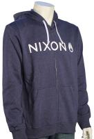 Nixon Lockup Zip Hoody - Faded Navy Heather