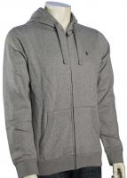 Nixon Briggs Zip Hoody - Heather Grey