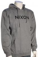 Nixon Wordmark Pullover Hoody - Dark Heather Grey