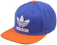 Adidas Thrasher Chain Snapback Hat - Bold Blue / Collegiate Orange
