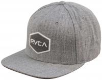 RVCA Commonwealth Snapback Hat - Grey Heather