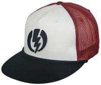 Electric New Volt Trucker Hat - White / Black / Red