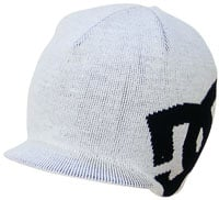 DC Big Star Visor Beanie - White