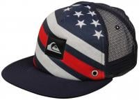 Quiksilver Boardies Trucker Hat - Merican Stripe