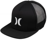 Hurley Blocked Trucker Hat - Embroidered Black