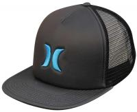 Hurley Blocked Trucker Hat - Black / Cyan