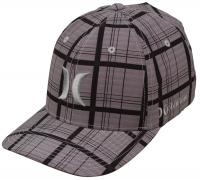 Hurley Phantom Plaid Hat - Medium Ash