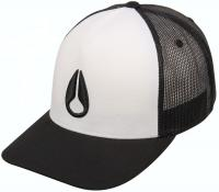 Nixon Iconed Trucker Hat - White / Black