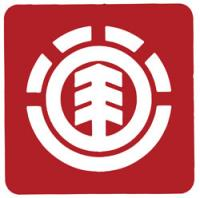 Element Tree Icon Logo Sticker - Red