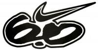 Nike 6.0 Logo Sticker - Black / White