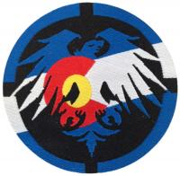 Never Summer Logo Eagle Patch - Colorado