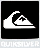 Quiksilver Lock Up Sticker - Black