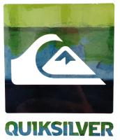 Quiksilver Chaos Sticker - Blue / Green