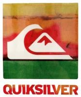 Quiksilver Chaos Sticker - Red / Orange