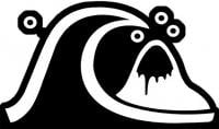 Quiksilver Old School Logo Sticker - Black