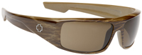 Spy Logan Sunglasses - Brown Stripe Tortoise / Bronze