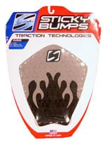 Sticky Bumps Flame Traction Pad - Black / Grey