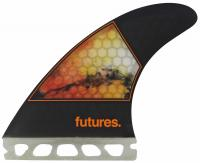 Futures Jordy Smith Medium Surfboard Fin Set - Orange