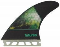 Futures Jordy Smith Large Surfboard Fin Set - Green
