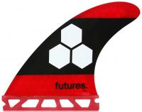 Futures AM3 Surfboard Fin Set - Red / Black