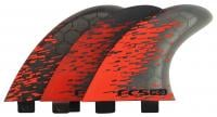 FCS PC-3 Performance Core Surfboard Tri Fin Set - Red Smoke