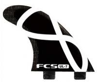 FCS UL-7 Ultralight Tri Fin Set - Black