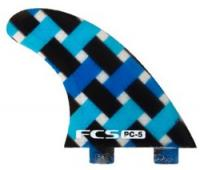FCS PC-5 Performance Core Surfboard Tri Fin Set - Blue Graphic