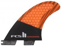 FCS II Accelerator Performance Core Carbon Tri Fin Set - Orange