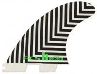 FCS II GOODS Performance Glass Tri Fin Set - Black / White