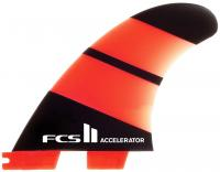 FCS II Accelerator Neo Glass Tri Fin Set - Orange