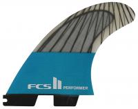 FCS II Performer Performance Core Carbon Tri Fin Set - Teal