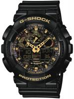 G-Shock GA100CF Watch - Black / Gold Camo