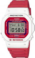 G-Shock DW5600TB Watch - White / Red