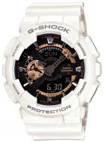 G-Shock X-Large Combination Watch - White / Rose Gold