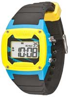 Freestyle Shark Classic PU Watch - Black / Blue / Yellow