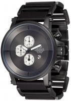 Vestal Plexi Leather Watch - Gunmetal / Gunmetal / Gunmetal