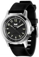 Vestal Alpha Bravo Rubber Watch - Black / Silver / Black