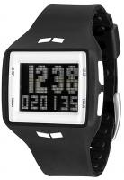 Vestal Helm Surf and Train Watch - Black / White / Negative