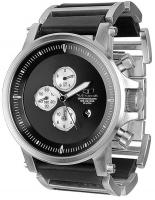 Vestal Plexi Leather Watch - Silver / Black / Brushed
