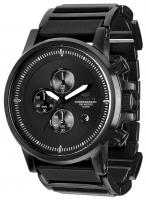 Vestal Plexi Leather Watch - Black / Lume
