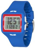 Vestal Helm Surf and Train Watch - Blue / Red / Positive