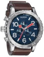 Nixon 51-30 Chrono Leather Watch - Navy / Brown