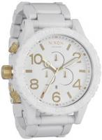 Nixon 51-30 Chrono Watch - All White / Gold