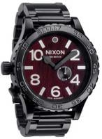 Nixon 51-30 Tide Watch - Dark Wood / Black