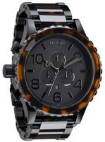 Nixon 51-30 Chrono Watch - Matte Black / Dark Tortoise