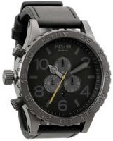 Nixon 51-30 Chrono Leather Watch - All Gunmetal / Black