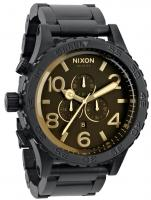 Nixon 51-30 Chrono Watch - Matte Black / Orange Tint