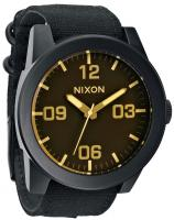 Nixon Corporal Watch - Matte Black / Orange Tint
